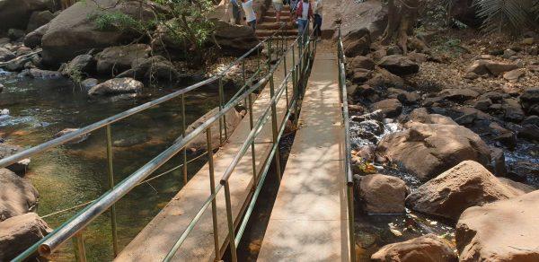 bridge across stream
